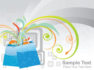 Nice Vector Banner On Shopping Pattern