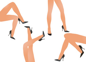 Night Club Legs. Vector Illustration.