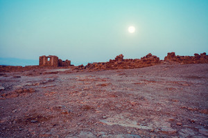 Night in Masada fortress in Judaean Desert