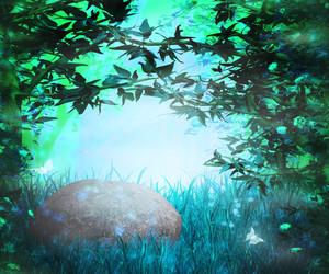 Night Magic Garden Background