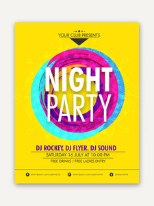Night Party celebration one page Flyer