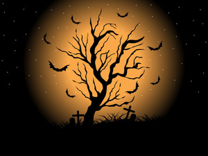 Night Scary Background For Halloween