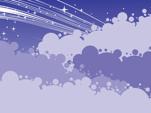 Night Scene With Cloud And Stars