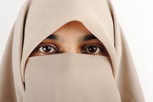 Niqab, Muslim woman, veil, scarf