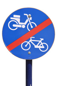 No Bicycle And Motorcycle Sign