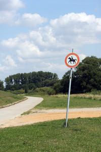 No Entrance On Horseback