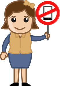 No Mobile Phone Allowed - Vector Illustration