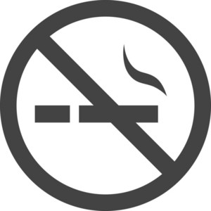 No Smoking Glyph Icon