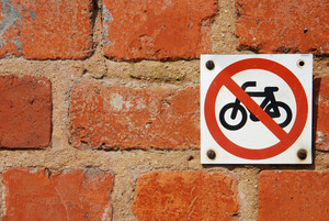 No Through Road Sign For Motorbikes