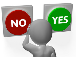 No Yes Buttons Show Rejection Or Granted