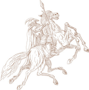 Norse God Odin Riding Eight-legged Horse