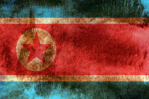 North Korea Grunge Flag