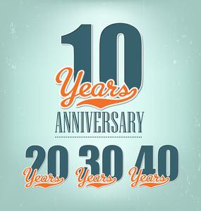 Nostalgic Anniversary Design In Retro Style