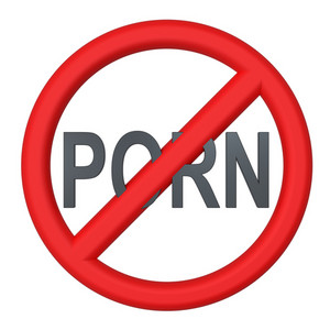 Not Allowed Porn Sign Isolated On White