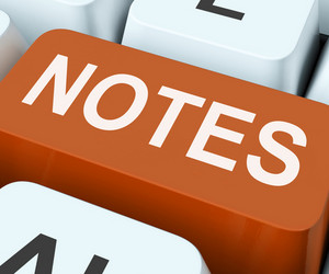 Notes Key Shows Information Reminders Or Info