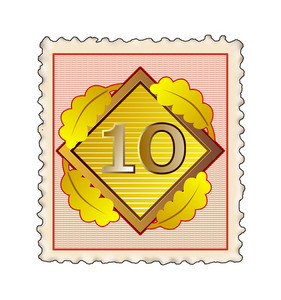 Number 10 Diamond Stamp