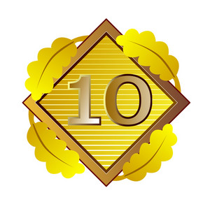 Number 10 In Diamond