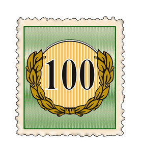 Number 100 In Stamp