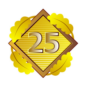 Number 25 In Diamond