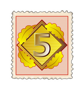Number 5 Diamond Stamp