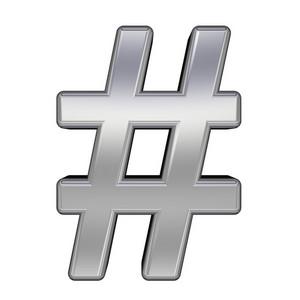 Number Mark From Chrome Alphabet Set
