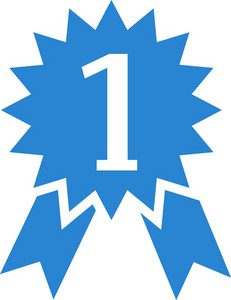 Number One Ribbon Simplicity Icon