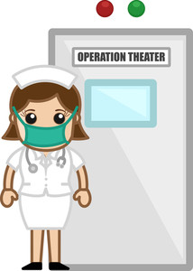 Nurse Outside The Operation Theater - Doctor & Medical Character Concept