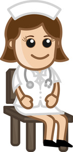 Nurse Sitting - Doctor & Medical Character Concept