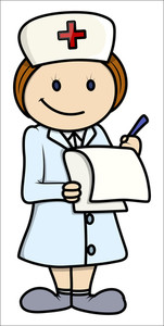 Nurse - Vector Cartoon Illustration