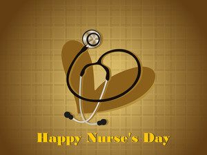 Nurse's Day Background With Isolated Heart