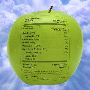 Nutritious Apple With Health Facts