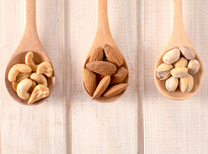Nuts On Wooden Spoons