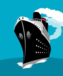 Navio de cruzeiro de passageiros marítimo