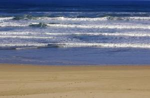 Ocean Waves Beach Background