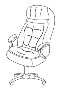 Office Chair Shape Vector
