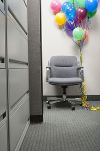Office chair with balloons