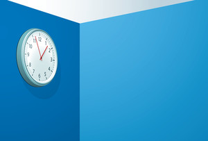 Office Clock. Vector.