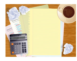 Office Creative Business Desktop. Vector Template.