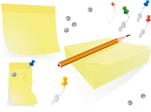 Office Notes. Vector Illustration