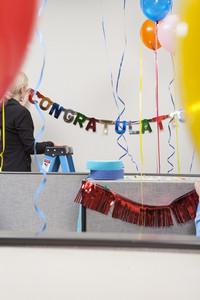 Office people celebrating