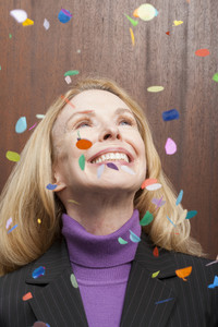 Office person celebrating at party