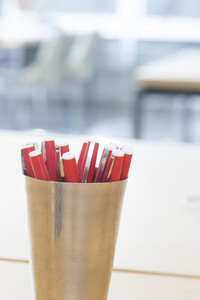 Office supplies in office space