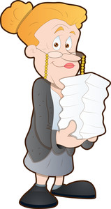 Office Woman - Cartoon Character