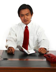 Office Worker Planning His Schedule