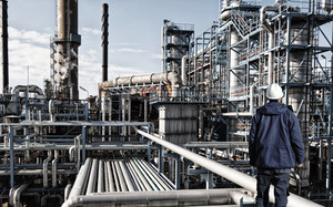 oil and gas engineer inside refinery