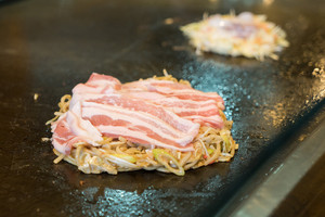 Okonomiyaki Raw Japanese food.