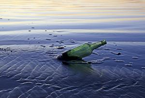 Old Bottle On Coast