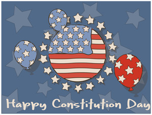 Old  Constitution Day Vector Illustration