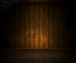Old Dark Wooden Room Background