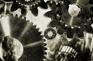 old fashioned cogwheels and gears